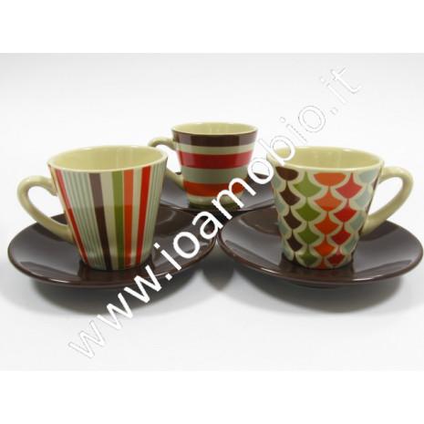Tazzina caffè piattino ceramica