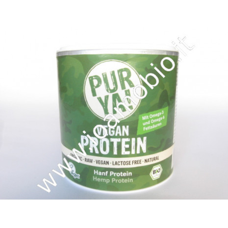 Purya Proteine Canapa polvere 250g Integratore sportivo Superfood Vegan Bio
