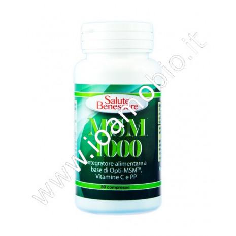 MSM 1000 metilsulfonilmetano (zolfo) 80 cpr