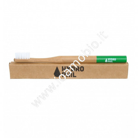 Hydrophil - Spazzolino da Denti in Bambù medio - verde