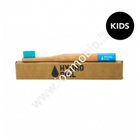 Hydrophil - Spazzolino Denti in Bambù extra morbido per bambini - blu