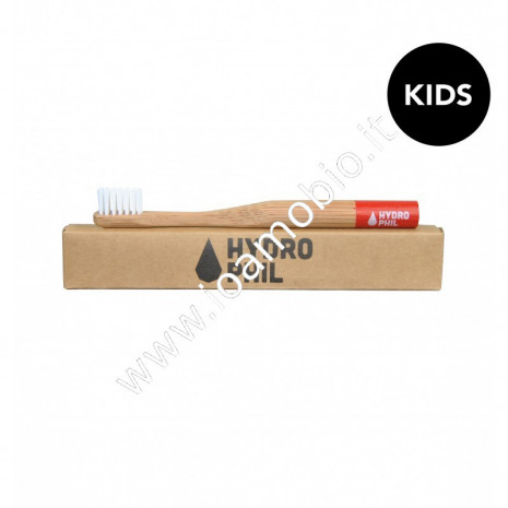 Hydrophil - Spazzolino Denti in Bambù extra morbido per bambini - rosso