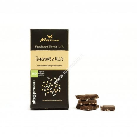 Mascao - Cioccolato Fondente Extra con Quinoa e Riso - Bio - 100g