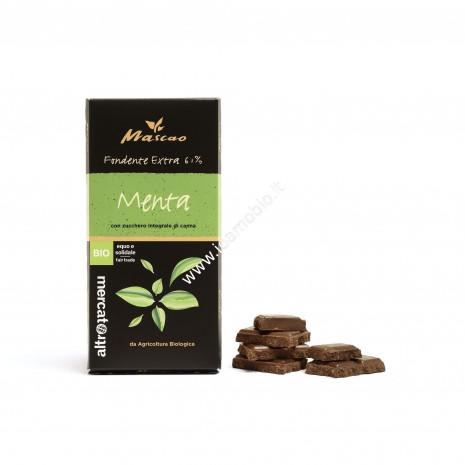 Mascao - Cioccolato Fondente Extra con Menta - Bio - 100g