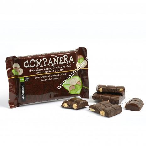 Companera - cioccolato fondente extra con nocciole intere 100g