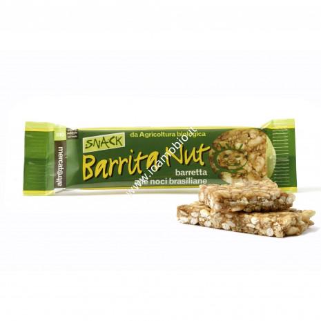 Barrita nut - barretta bio alle noci brasiliane e anacardi 25g
