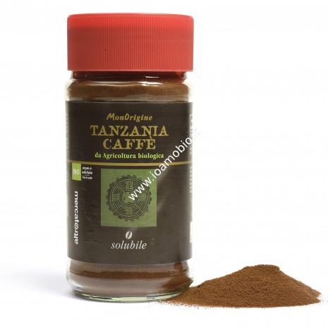 Caffè solubile monorigine Tanzania -bio 100g