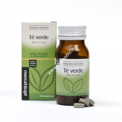 Tè verde 60 compresse - 42g - Integratore drenante ed antiossidante