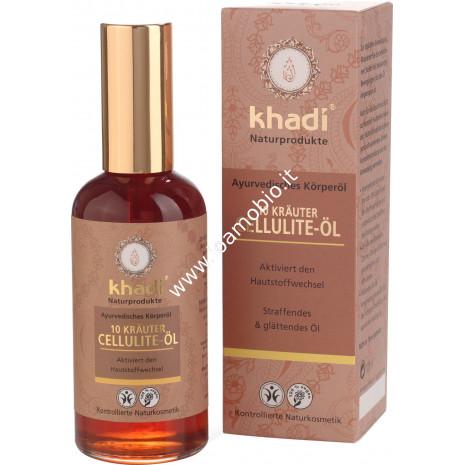 Khadi bio olio cellulite 10 erbe 100ml