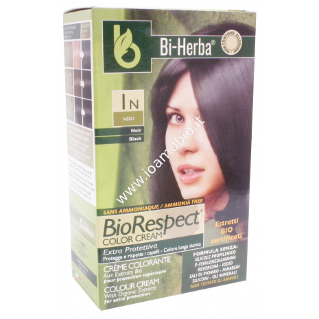 Tintura capelli 1N - NeroTinta in crema con estratti bio certificati