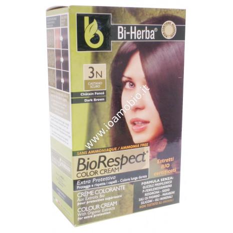 Tintura capelli 3N - Castano scuroTinta in crema con estratti bio certificati