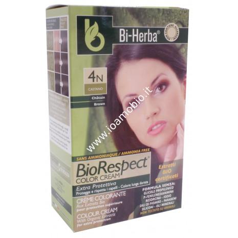 Tintura capelli 4N - CastanoTinta in crema con estratti bio certificati