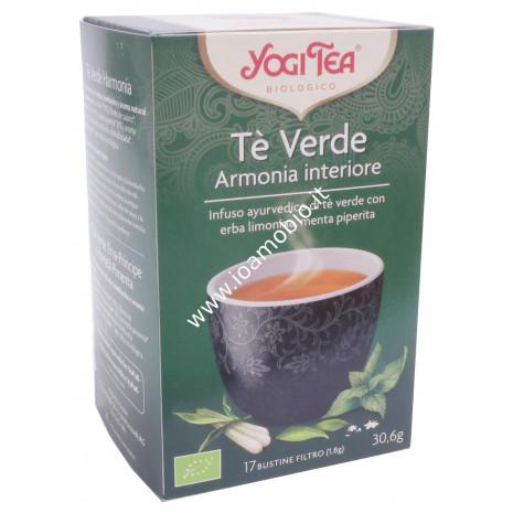 Yogi Tea - Tè Verde Armonia Naturale - Menta piperita, erba limonina, Kombucha