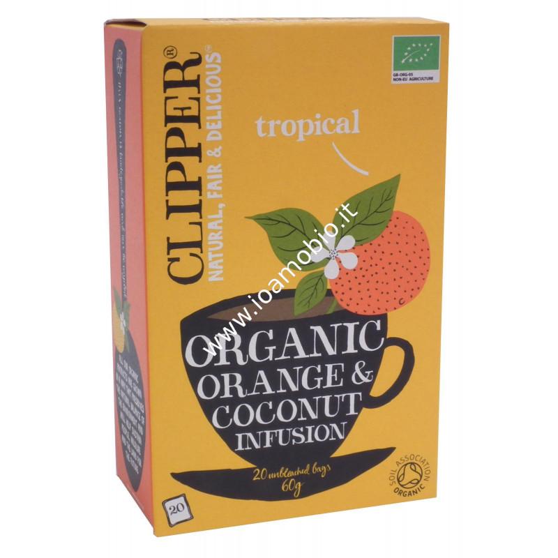 Clipper infuso arancia e cocco 20 filtri 60g