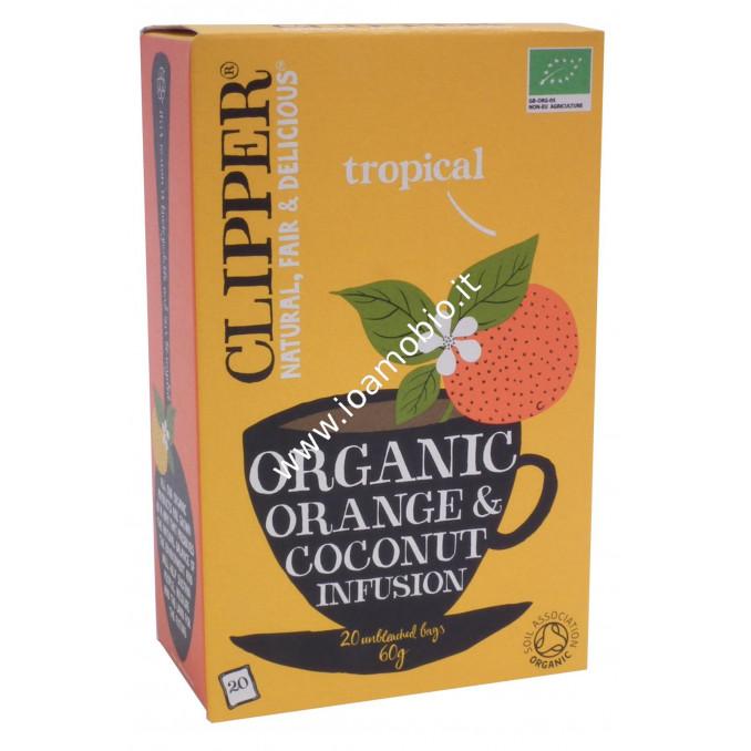 Clipper Infuso Arancia e Cocco Biologico 20 filtri 60g