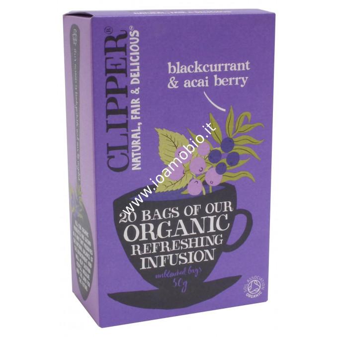 Clipper Infuso Ribes Nero e Acai Bio 20 filtri 50g
