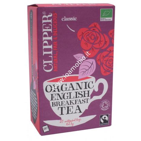 Clipper english breakfast tè nero 20 filtri