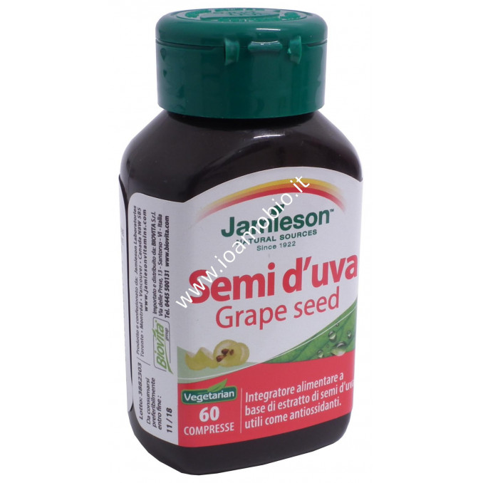 Jamieson Semi d'Uva Grape Seed 60 cpr - Integratore Antiossidante