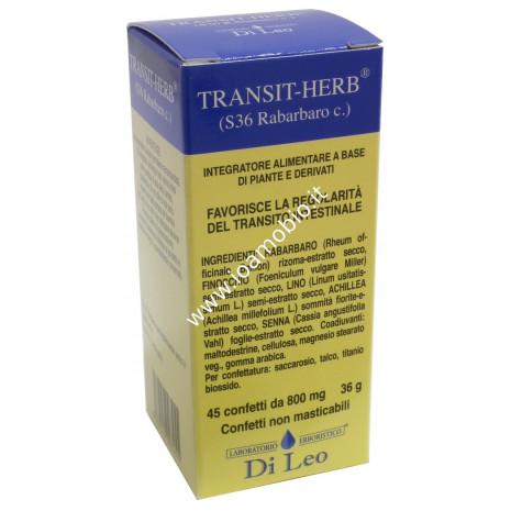 Transit Herb Rabarbaro 45cpr - Utile in caso di Stipsi, Stitichezza e Meteorismo
