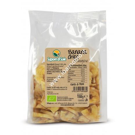 Banana Chips 150g - Miele e Zucchero di canna