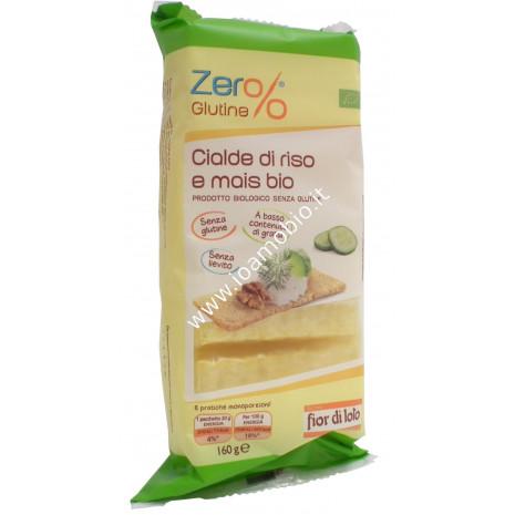 Cialde di Riso e Mais 160g - Croccanti Sfoglie Senza Glutine Senza Lievito