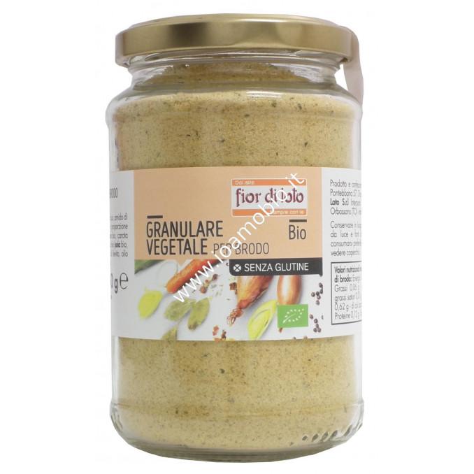 Brodo vegetale granulare con sale 250g - Senza glutine