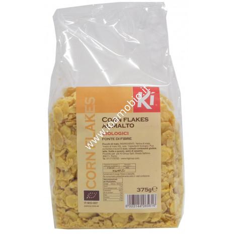 Corn Flakes al Malto Biologici 375g - Mais soffiato per la prima colazione