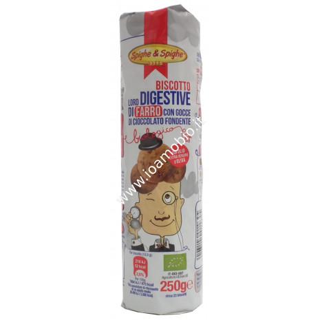 Biscotti Digestive di Farro con Gocce di Cioccolato 250g - Biologici