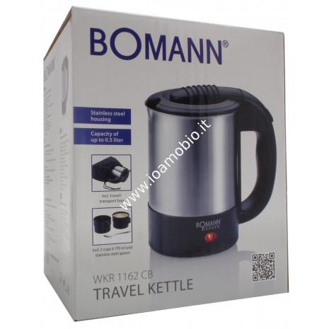 Bomann Estate - Bollitore Elettrico da viaggio 0,5lt Acciaio Inox codice WKR1162