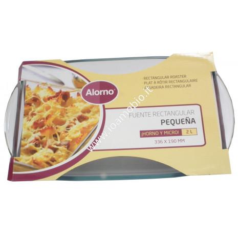 Pirofila in Vetro Rettangolare 33x19 - 2lt - Cottura in Forno e Microonde