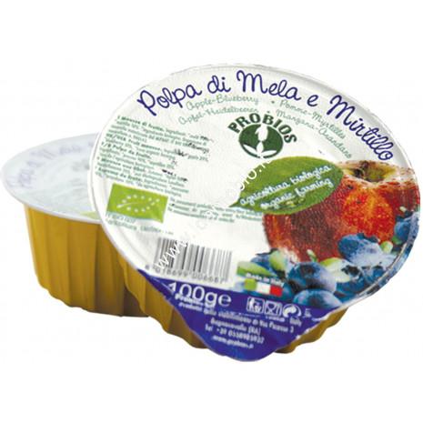 Polpa di Mela e Mirtillo 100g - Frutta biologica probios