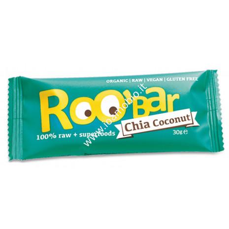 Roobar barretta 100% raw - chia e cocco 30g