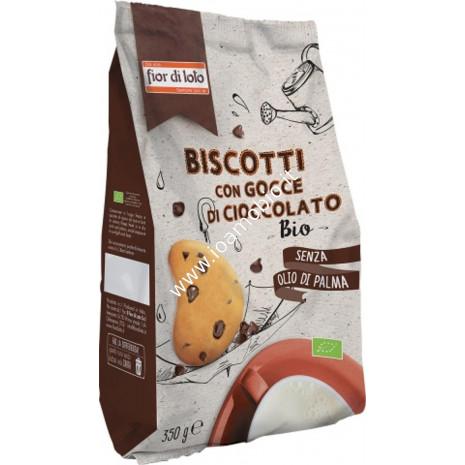 Biscotti con Gocce di Cioccolato Bio 350g - Senza olio di palma