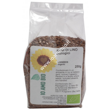 Semi di Lino Scuro Biologici 250g