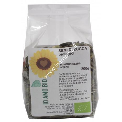 Semi di Zucca Biologici Crudi 200g - non tostati