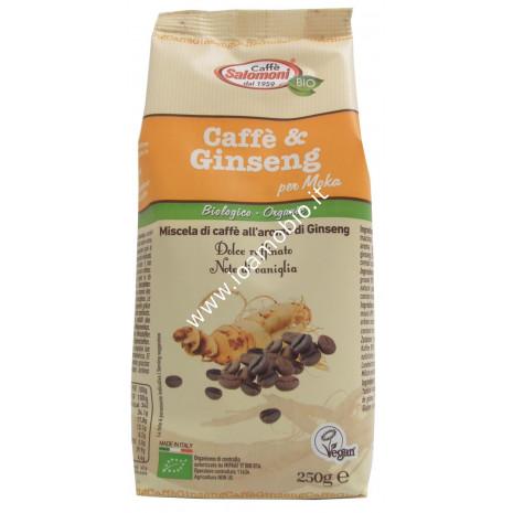 Caffè e Ginseng Biologico 250g -100% Arabica Gourmet al Ginseng per Moka