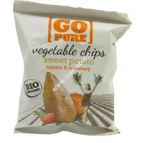 Go Pure Chips di Patata dolce, Pomodoro e Rosmarino 40g - Patatine biologiche