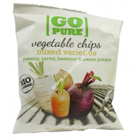 Go Pure Chips di Verdure Salate 40g - Patatine biologiche
