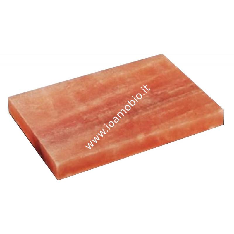 Piastra di Sale Rosa Himalaya 30x20x3cm - Piatto per Cottura Cibi e per servire
