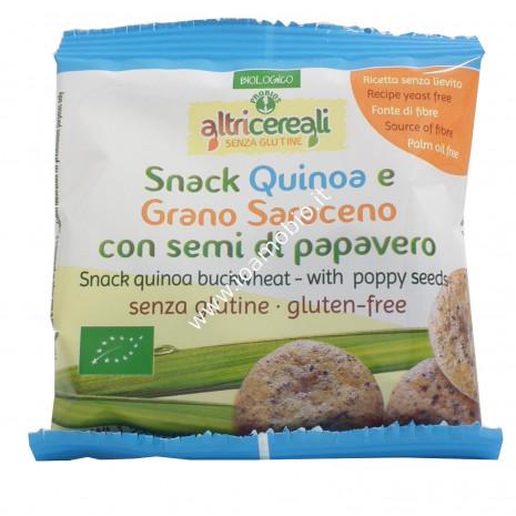 Snack Quinoa e Grano Saraceno con Semi di Papavero 35g - Senza Glutine