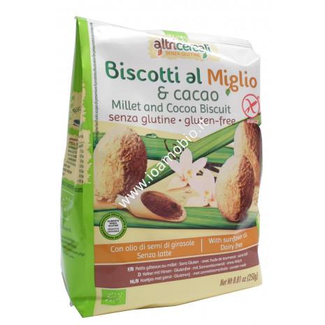 Biscotti al Miglio con Cacao 250g - Biologici Senza Glutine