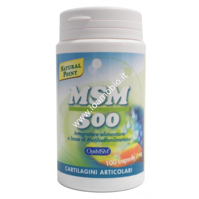 MSM Metilsulfonilmetano 100 capsule da 500mg - Integratore Zolfo Organico
