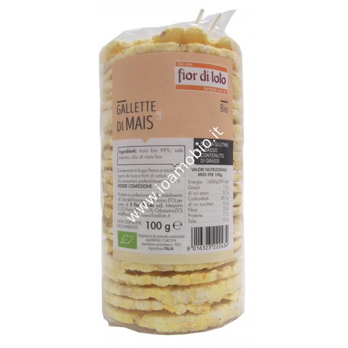 Gallette di Mais Biologiche 100g - Senza Glutine Fior di Loto