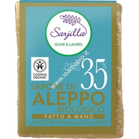 Sapone di aleppo mattonella 35% 200g