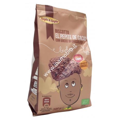 Biscotto El Pepite de Cacao con Gocce di Cioccolato 300g - frollini biologici