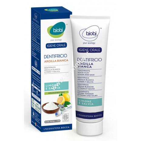 BjoBj - Dentifricio Argilla Limone e Salvia 75ml - Purificante