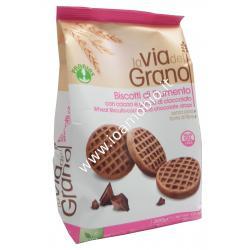 Biscotti con cacao e gocce di cioccolato 300g