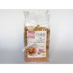 Crunchy Avena con Frutti di Bosco bio 375g - il Fior di Loto