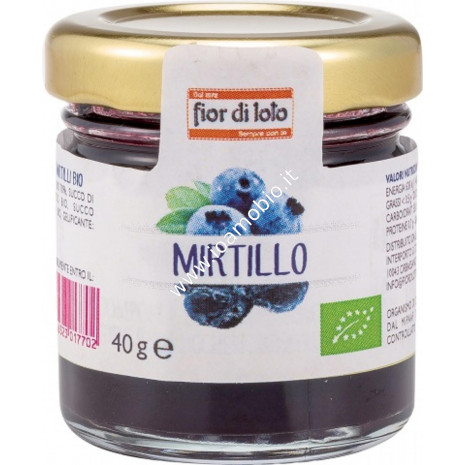 Mini composta di mirtilli 40g - Composta Biologica