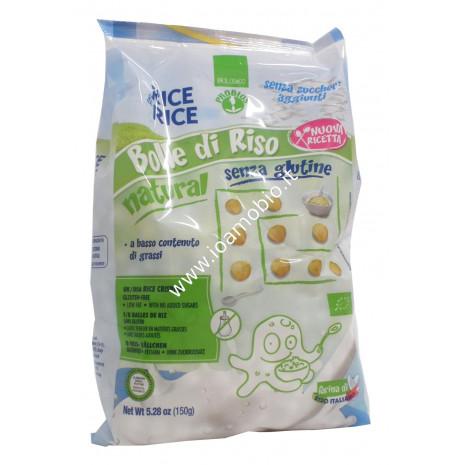 Bolle di Riso al Naturale Senza Glutine 150g - Palline Croccanti biologiche